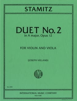 Duo n° 2 in A major, op. 12 STAMITZ Partition 0 - laflutedepan