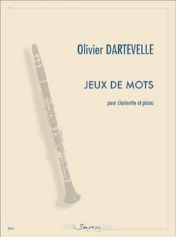 Jeux de mots Olivier Dartevelle Partition Clarinette - laflutedepan