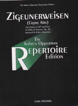 Zigeunerweisen opus 20 SARASATE Partition Clarinette - laflutedepan