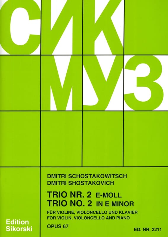 Trio Nr. 2 e-moll op. 67 - Violine Violoncello Klavier - Stimmen - laflutedepan.com