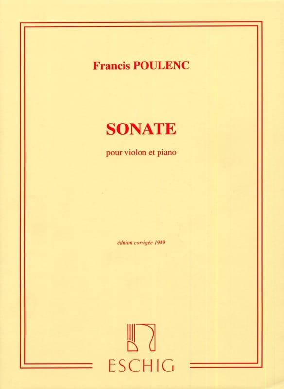 Sonate - POULENC - Partition - Violon - laflutedepan.com