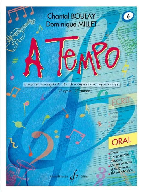 A Tempo Volume 6 - Oral - BOULAY - MILLET - laflutedepan.com