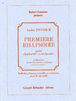 Rhapsodie n° 1 André Patrick Partition Clarinette - laflutedepan