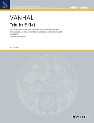 Trio Es-Dur Op. 20 N° 5 Johann Baptist Vanhal Partition laflutedepan