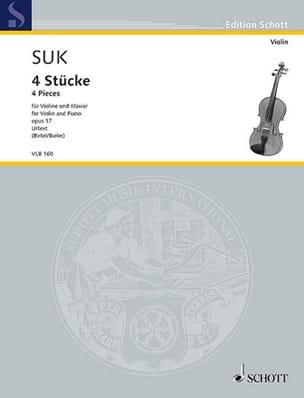 4 Pièces, Op. 17 Josef Suk Partition Violon - laflutedepan