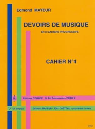 Devoirs de musique n° 4 - Edmond Mayeur - Partition - laflutedepan.com
