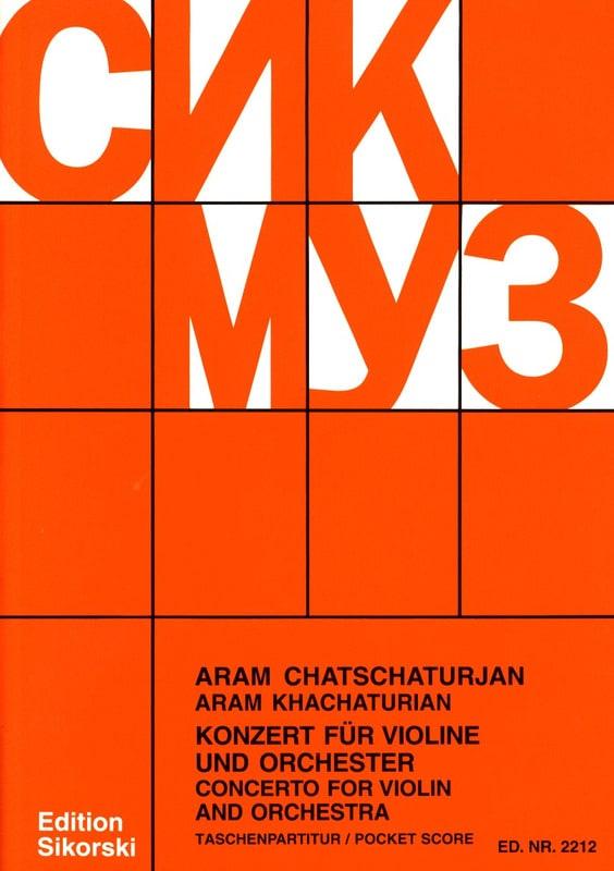 Concerto pour violon - Partitur - KHATCHATURIAN - laflutedepan.com