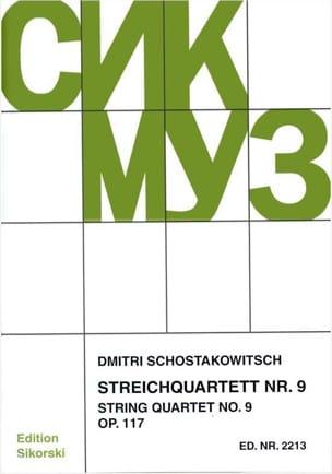 Streichquartett Nr. 9 op. 117 - Stimmen CHOSTAKOVITCH laflutedepan