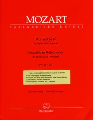 Fagottkonzert B-Dur KV 191 186e -Fagott Klavier MOZART laflutedepan