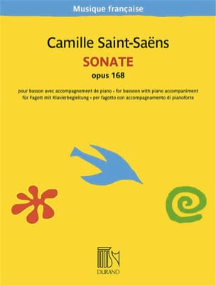 Sonate, Opus 168 SAINT-SAËNS Partition Basson - laflutedepan