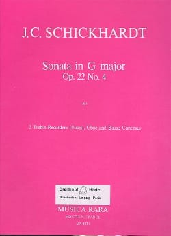 Sonata G major op. 22 n° 4 -2 Treble recorders, oboe BC laflutedepan