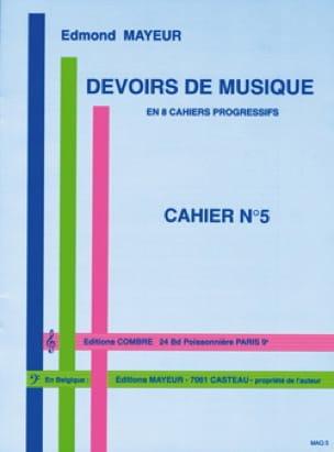 Devoirs de musique n° 5 - Edmond Mayeur - Partition - laflutedepan.com