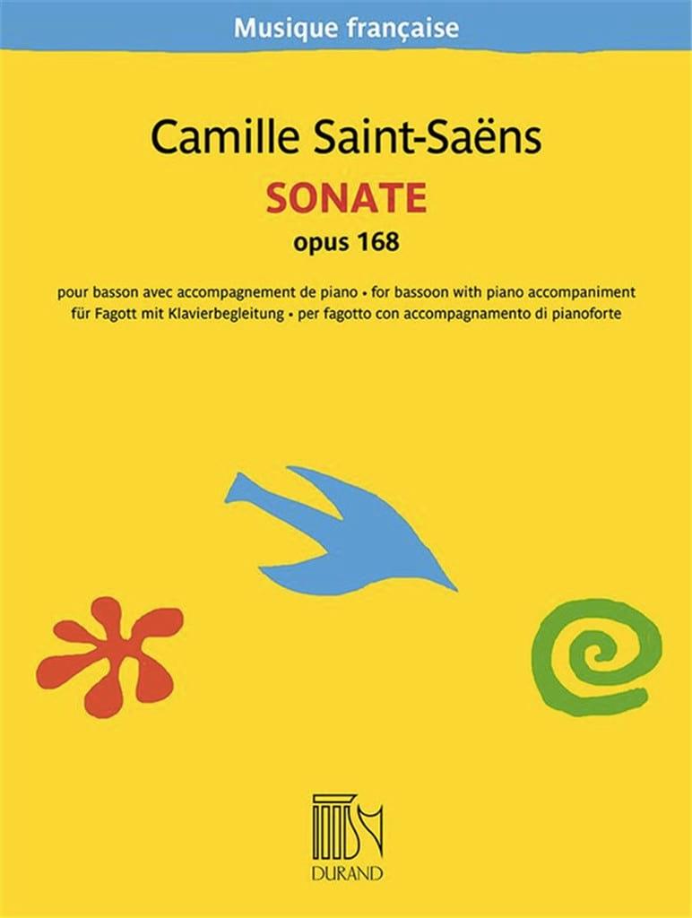 Sonate, Opus 168 - SAINT-SAËNS - Partition - Basson - laflutedepan.com
