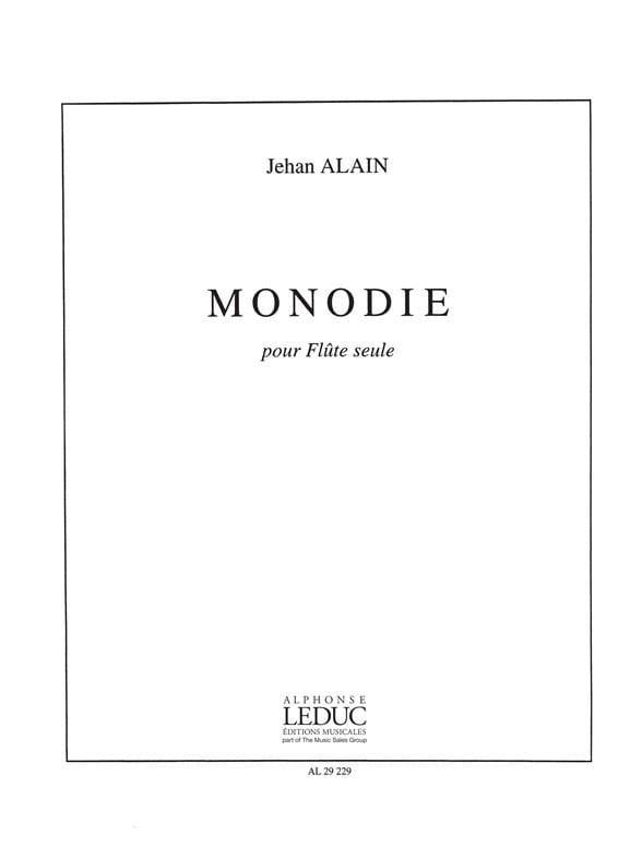Monodie - Flûte seule - Jehan Alain - Partition - laflutedepan.com