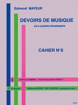 Edmond Mayeur - Duties of music n ° 6 - Partition - di-arezzo.co.uk