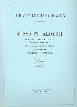Missa Sti. Aloysii - Conducteur Michael HAYDN Partition laflutedepan