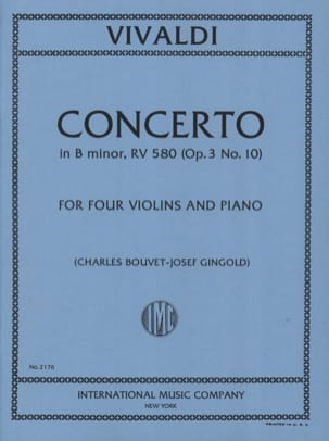 Concerto in B minor RV 580 op. 3 n° 10 - 4 Violins piano laflutedepan