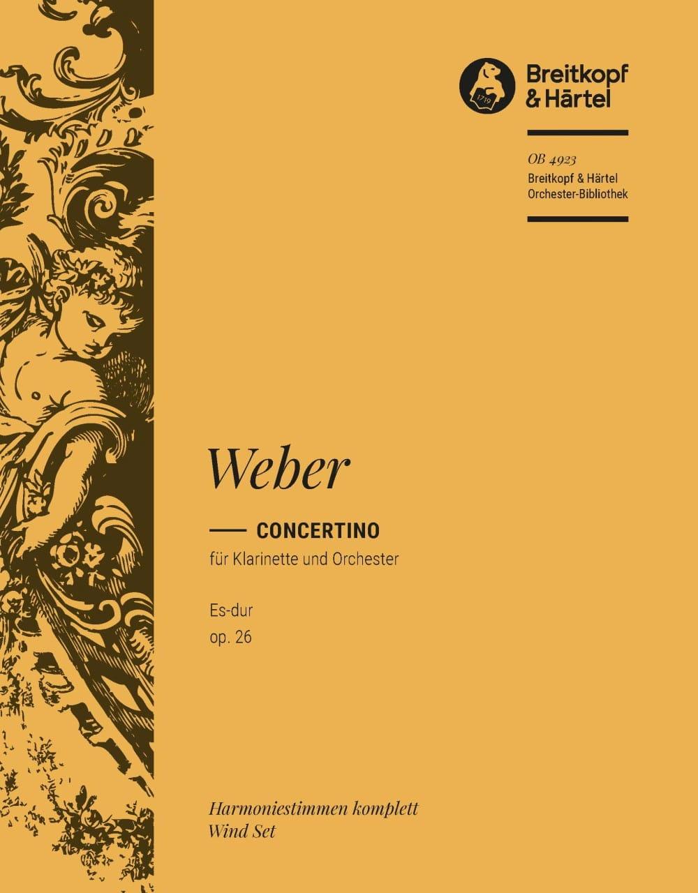 Concertino Für Klarinette Es-Dur Op. 26 - laflutedepan.com