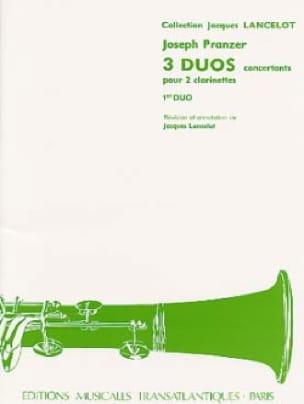 3 Duos concertants - 1er Duo pour 2 clarinettes - laflutedepan.com