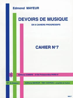 Edmond Mayeur - Duties of music n ° 7 - Partition - di-arezzo.co.uk