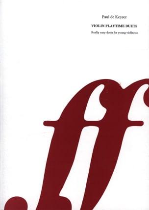 Violin duet time Paul de Keyser Partition Violon - laflutedepan