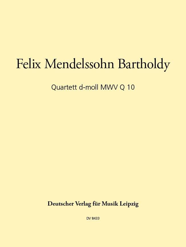 Quartett d-moll -Stimmen - MENDELSSOHN - Partition - laflutedepan.com