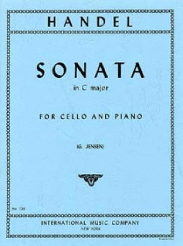 Sonata in C major -Cello - HAENDEL - Partition - laflutedepan.com