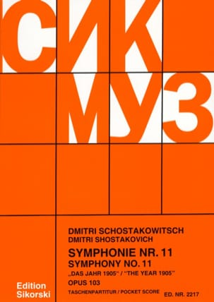 Symphonie Nr. 11 op. 103 - Partitur CHOSTAKOVITCH laflutedepan