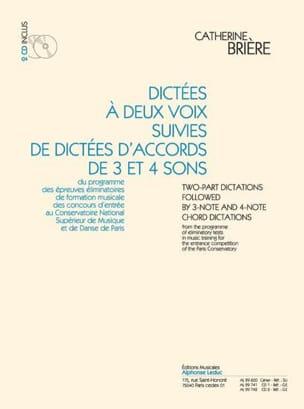 Dictées à 2 voix et et d'accords + 2 CDs Catherine Brière laflutedepan