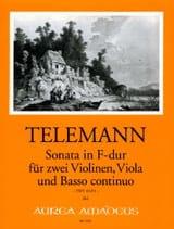 Sonate En Fa Maj. Twv43 : F4 TELEMANN Partition laflutedepan