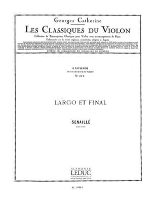 Largo et Final Senaillé Jean-Baptiste / Catherine Georges laflutedepan