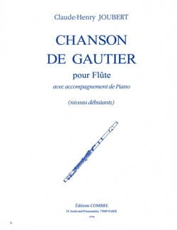 Chanson de Gautier Claude-Henry Joubert Partition laflutedepan