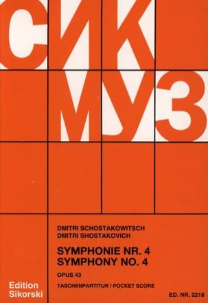 Symphonie Nr. 4 op. 43 - Partitur CHOSTAKOVITCH Partition laflutedepan