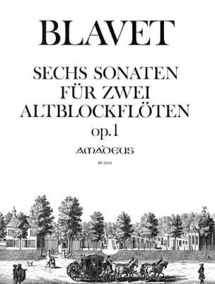 6 Sonates Opus 1 Michel Blavet Partition Flûte à bec - laflutedepan