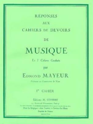 Réponses aux devoirs n° 1 - Edmond Mayeur - laflutedepan.com