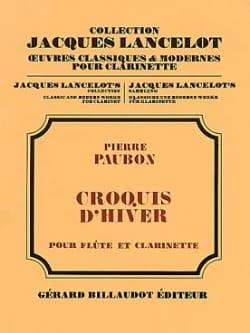 Croquis d'hiver Pierre Paubon Partition Duos - laflutedepan