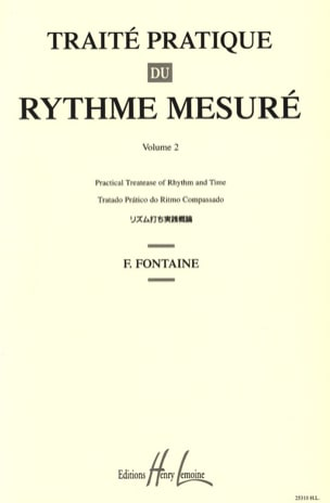 Traité Pratique du Rythme Mesuré Volume 2 laflutedepan
