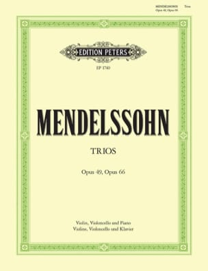 MENDELSSOHN - Klaviertrios op. 49 d-moll und 66 c-moll - Partition - di-arezzo.co.uk