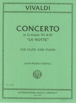 Concerto en sol min. La notte - Flûte piano VIVALDI laflutedepan