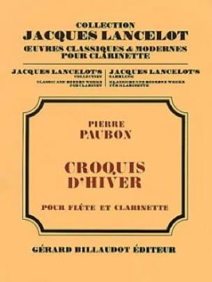 Croquis d'hiver - Pierre Paubon - Partition - Duos - laflutedepan.com