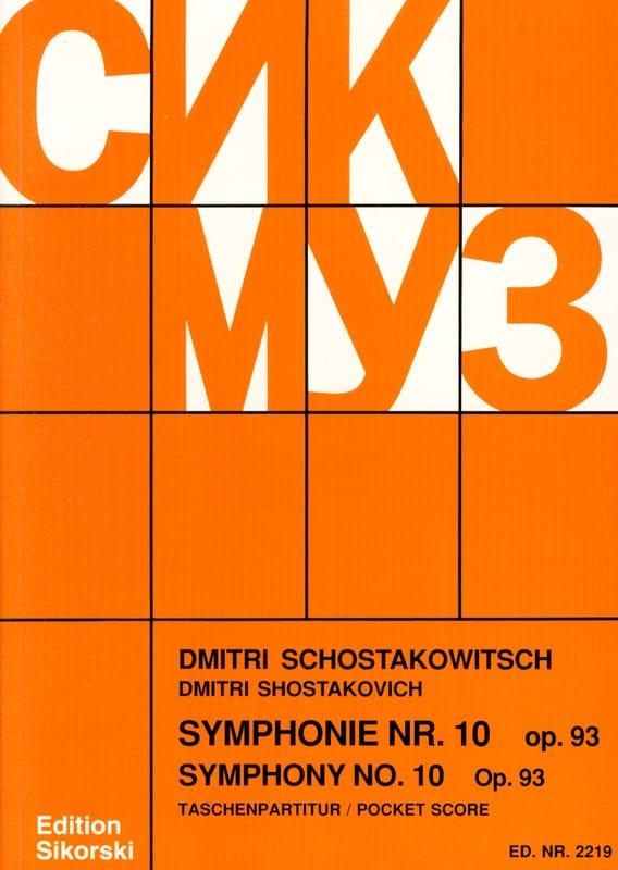 Symphonie Nr. 10 op. 93 - Partitur - CHOSTAKOVITCH - laflutedepan.com