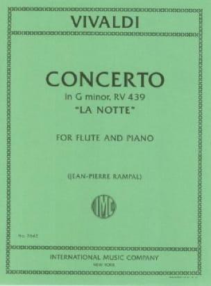 Concerto en sol min. La notte - Flûte piano - laflutedepan.com