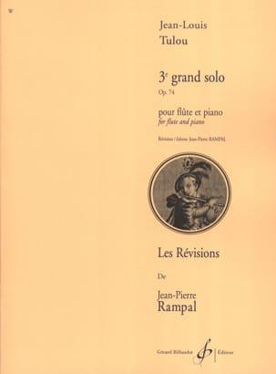3ème Grand Solo Op. 74 Jean-Louis Tulou Partition laflutedepan
