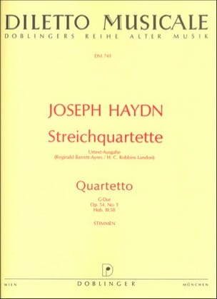 Streichquartett G-Dur op. 54 n° 1 -Stimmen HAYDN laflutedepan