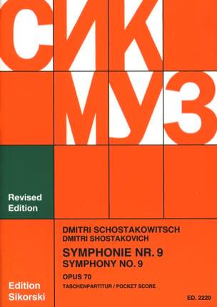 Symphonie Nr. 9 op. 70 - Partitur CHOSTAKOVITCH Partition laflutedepan