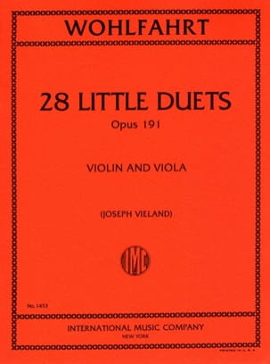 28 Little duets op.191 Robert Wohlfahrt Partition 0 - laflutedepan
