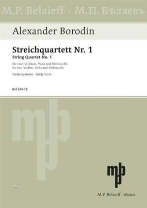 Streichquartett Nr. 1 A-Dur - Partitur BORODINE Partition laflutedepan