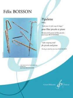 Pipelette Félix Boisson Partition Flûte traversière - laflutedepan
