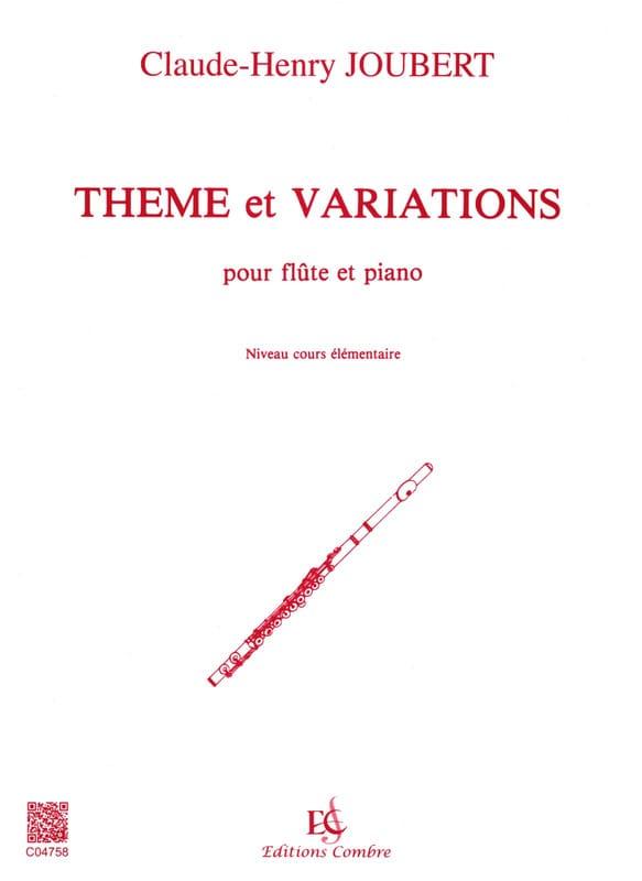 Thème et variations - Flûte - Claude-Henry Joubert - laflutedepan.com
