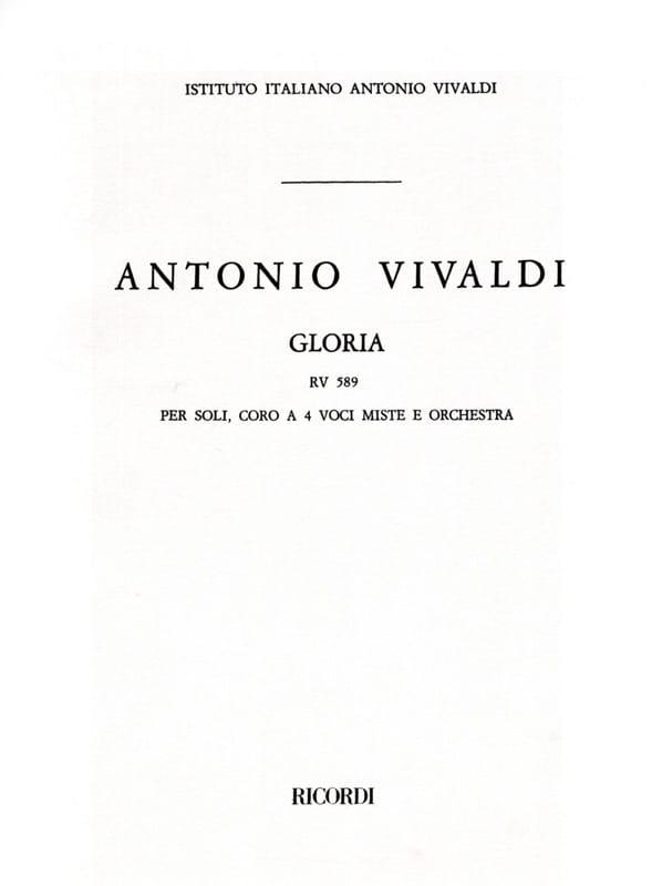 Gloria RV 589 - conducteur - VIVALDI - Partition - laflutedepan.com